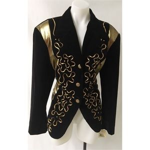 Black / Gold Vintage Blazer Size XL
